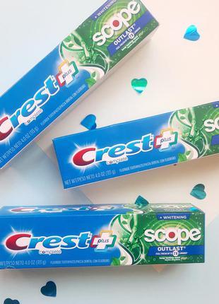 Зубна паста з ополіскувачем crest scope