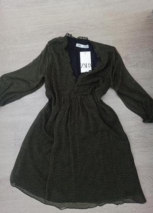 Платье в горошек зара zara