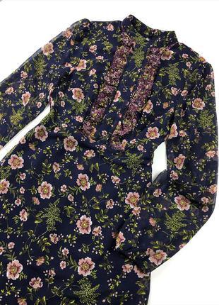 Шифонова сукня в квітковий принт m&s (лімітована колекція!)