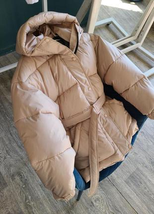 Теплые куртки с поясом