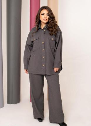 Кашеміровий костюм з сорочки та брюк-палацо / кашемировый костюм