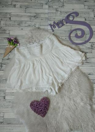 Летние шорты женские pull&bear белые