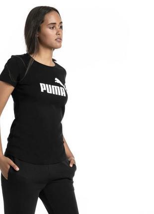 Базовая чёрная футболочка puma