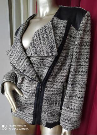 Твидовый пиджак, косуха, жакет, большого размера