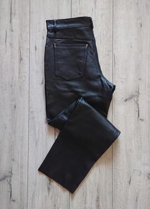 Шикарные кожаные штаны  john f.gee  размер м
