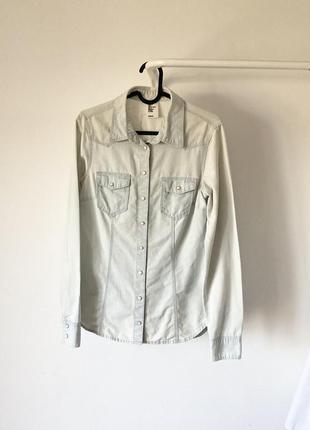 Сорочка джинсова на кнопках