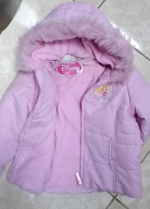 Теплая курточка с принцессой 3-4 года disney