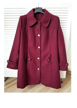 Шикарное классическое свободное пальто кашемировое пальто женское батал полупальто классика