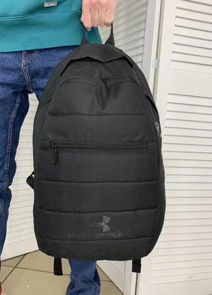 Мужской черный рюкзак under armour для тренировок и спорта и повседневной ходьбы