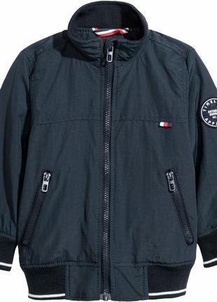 Демисезонная куртка h&m 170 см темно-синяя