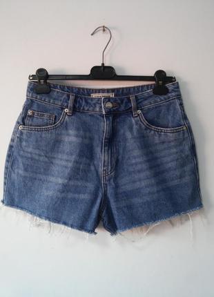 Трендовые джинсовые шорты мом высокая посадка pimkie
