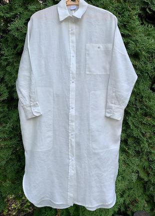Max mara платье льняное