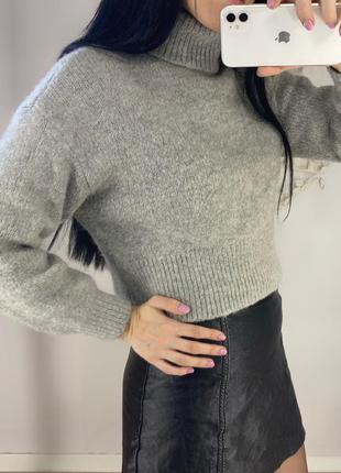 Базовый серый плотный свитер осень весна зима ❄️