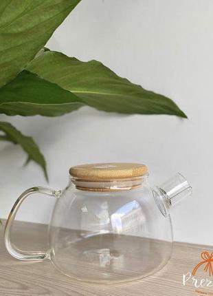 Чайник скляний