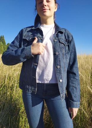 Піджак джинсовий,розмір 12