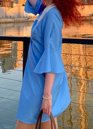 Голубое платье сукня
