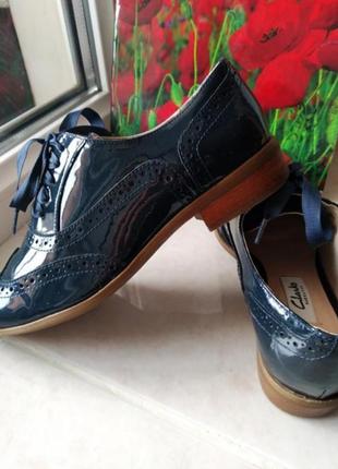 Крутые лоферы туфли натуральная кожа ортопедическая стелька бренда clarks uk 2 eur 34
