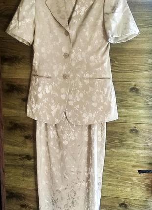 Шикарний костюм двойка сарафан платье пиджак