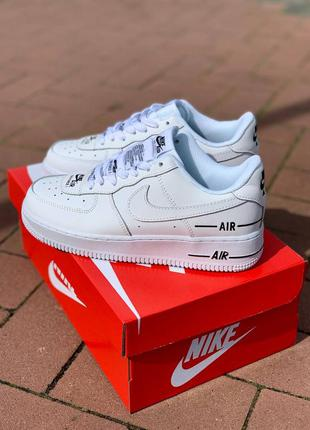 Кроссовки nike air force 1 low double air 'white black' белые