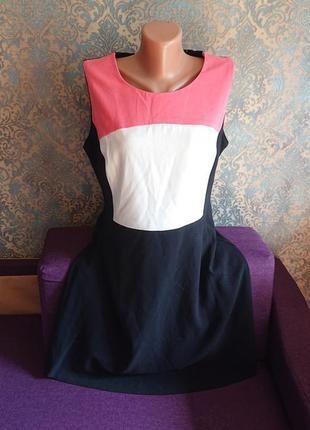 Женское трикотажное платье сарафан под блузы рубашки большой размер батал 48/50