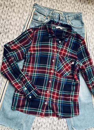 Стильная рубашка в клеточку tom tailor