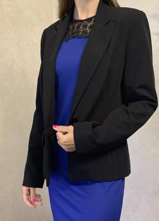 Черный базовый классический пиджак dorothy perkins