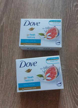 Dove мыло с ароматом инжира и цветков апельсинового дерева 135г