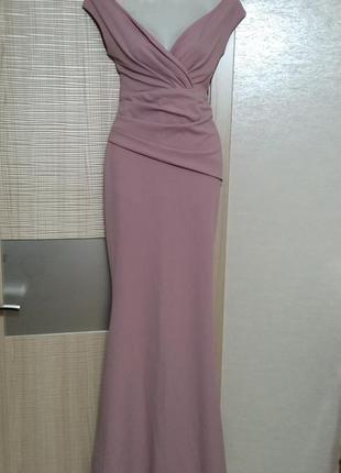 Акция1+1=3🤩🤑шикарнейшее вечернее платье макси пыльная роза,платье-русалка,рыбка на плечи