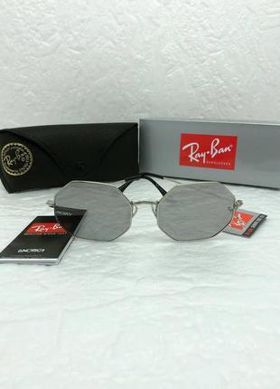 Женские солнцезащитные очки в стиле ray ban🔥lux качество, серые