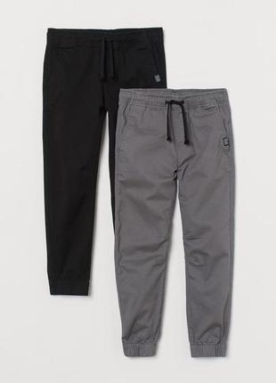 Джогеры штаны с твила для мальчика h&m сша
