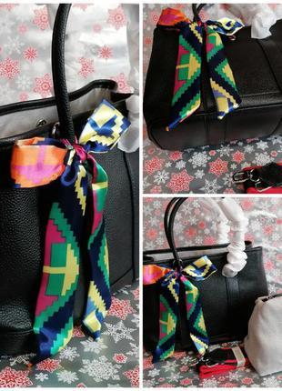 Шикарная сумка со съемным отделением. натуральная кожа.