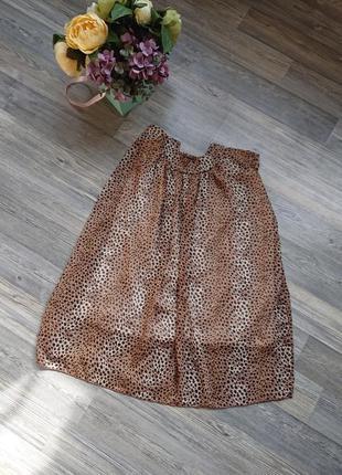 Красивая леопардовая юбка р.м/l