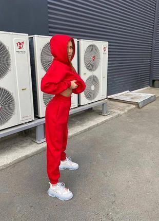 Спортивный костюм на флисе красный беж чёрный лаванда 42-44 46-48