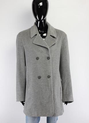 Фирменное шерстяное пальто cos maje massimo dutti