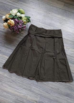 Красивая женская хлопковая юбка большой размер батал 50 /52