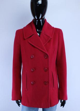 Фирменное шерстяное пальто в стиле cos maje massimo dutti