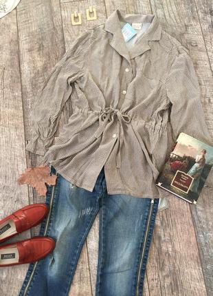 Новая винтажная натуральная рубашка сорочка блуза maria bellesi m-l италия