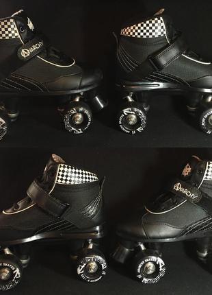 Ролики квады anarchy mayhem derby roller skate