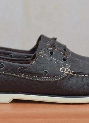 Мужские кожаные мокасины, топсайдеры, туфли chatham, 43 размер. оригинал