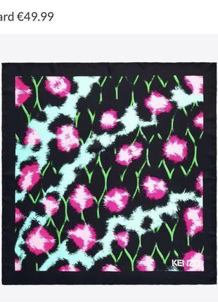Шелковый платок коллаборация kenzo h&m , оригинал, 100% шелк