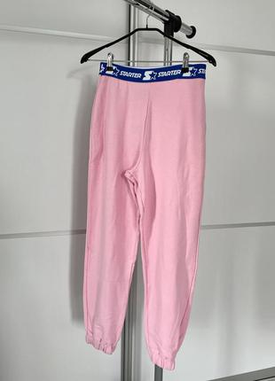 Розовые штаны женские, повсякденні штани рожеві трендові від zara.