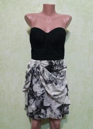 Шикарное платье бюстье )чашки на паролоне держат форму