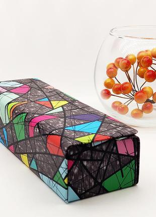 Футляр для очков на магните стильный разноцвет / футляр для окулярів