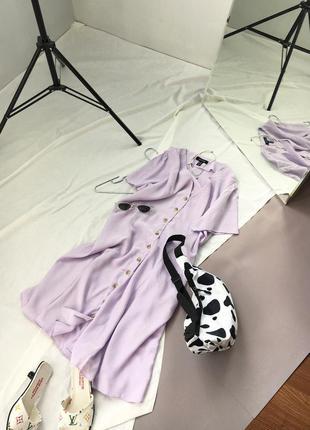Мила лілова сукня з ґудзиками під дерево new look
