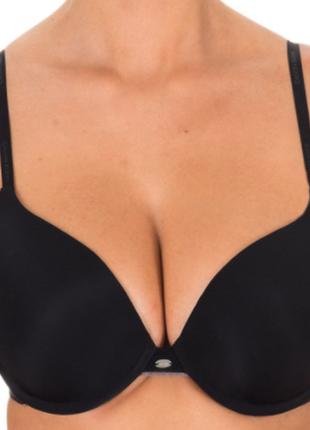 """Шикарный черный плотный эластичный фирменный бюстгальтер на большую грудь """"calvin klein"""",80c"""