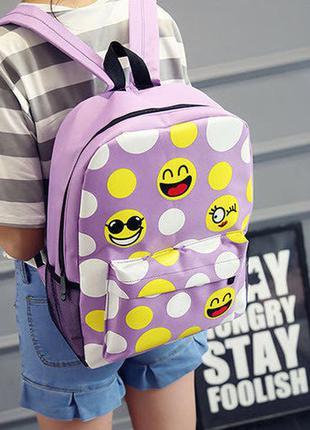 Тканевый рюкзак со смайликами