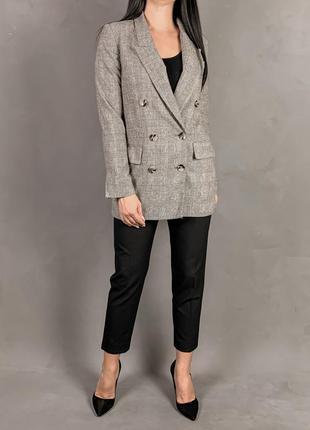 Красивый удлиненный жакет пиджак блейзер zara s