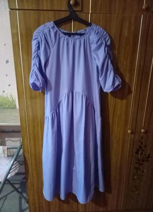Очаровательное сиреневое платье