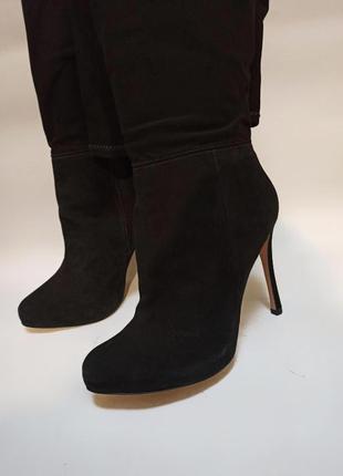 Ботфорты чорные.брендовая обувь stock