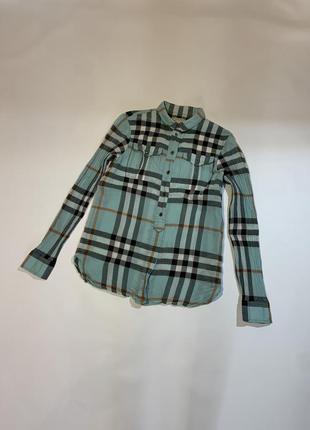 Женская оригинальная рубашка в клетку burberry brit nova check  xs